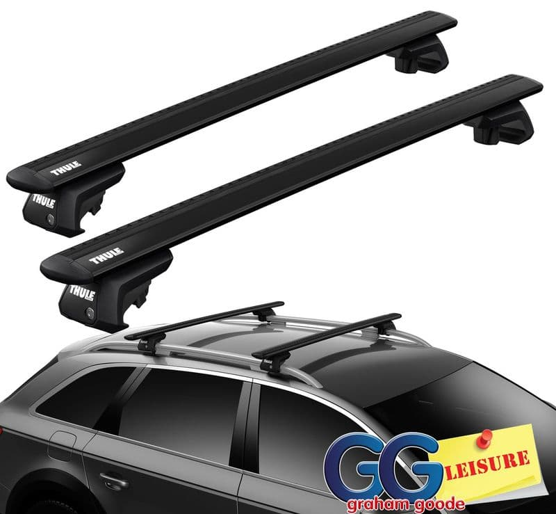 Thule Black Evo WingBars Roof Rack Rail Bars | Nissan X Trail 2014- onwards