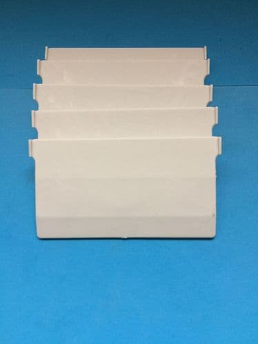 """CHAINLESS  WHITE VERTICAL BLIND BOTTOM WEIGHTS FOR WIDE  (3.5"""") BLIND SLATS"""
