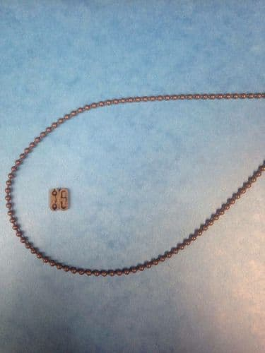 DELUXE DOUBLE BEAD ROLLER / ROMAN BLIND SIDE CONTROL PULL CHAIN BROWN