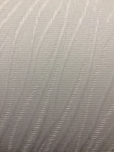 """Full Roll (100m) of Vertical Blind Fabric / Material / 3.5""""(89mm wide) Colour- Chenille White"""