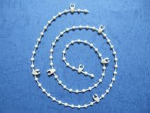 WHITE VERTICAL BLIND LINK BEAD CHAIN