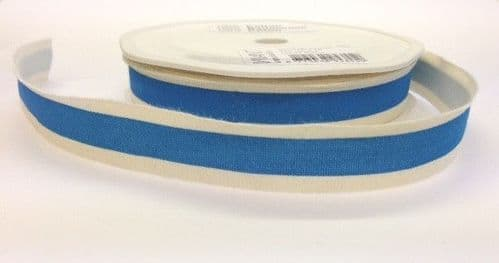 15mm Solid Stripe Cotton Tape Assorted Colours 15 Metres