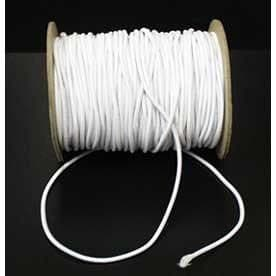 2.5mm White cord elastic Made in UK