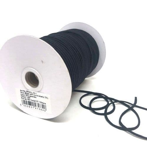 Berties Bows 3mm Soft Round Elastic Assorted Colours