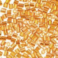 Darice Silver Lined Seed Beads Amber 2-Cut (20 grams/pk)