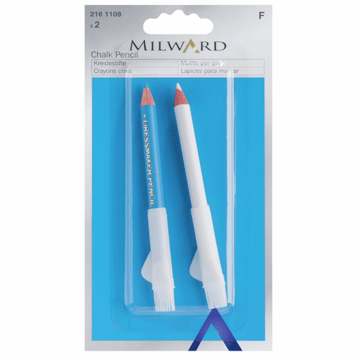 Milward Pencil Dressmakers White and Blue 2 Pieces