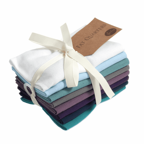 Plain Fat Quarter Bundle: 8 x 54cm x 45cm: Iris