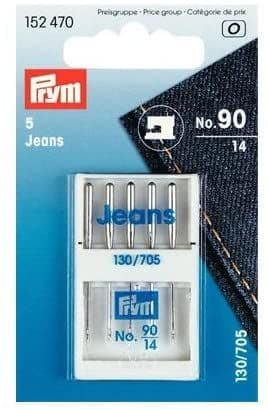 Prym Sewing Machine Needles Sys. 130/705 JEANS 90