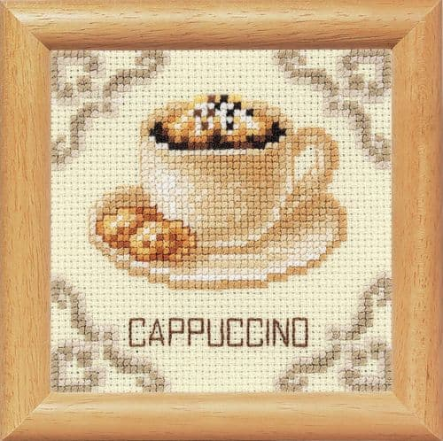 "Vervaco ""Coffee Time Cappuccino"" Counted Cross Stitch Kit"