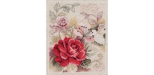 Vervaco Rose Counted Cross Stitch Kit