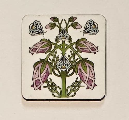 Coaster - Celtic - flower and bees