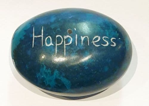 Incense Stick Holder - Pebble  - Happiness - Blue