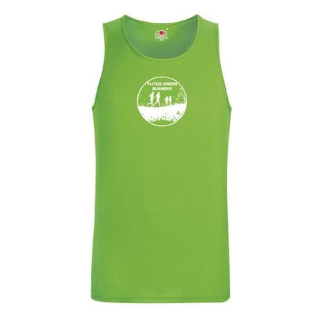 SS017 Performance Vest - Flitch Green Runners - Lime