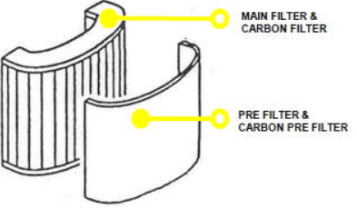 esab air fed grinding helmet pre-filter